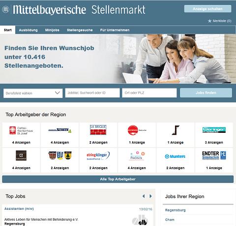 Mittelbayerische Zeitung Jobs