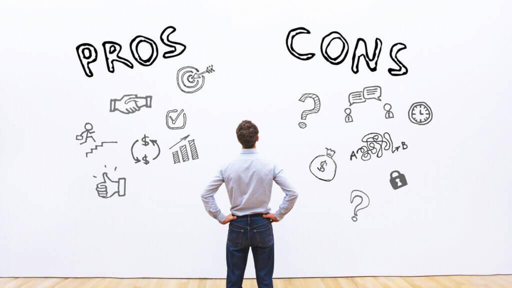Entscheidungen treffen Pro- und Contra Liste
