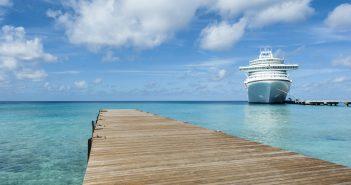 Tourguide auf einem Kreuzfahrtschiff