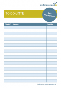 Vorlage: To-Do-Liste
