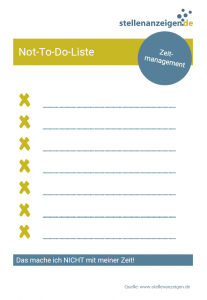 Zeitmanagement: Not-To-Do-Liste