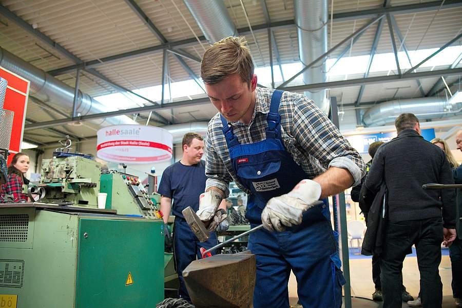 Handwerkliche Berufe auf der Messe Chance in Halle 2018
