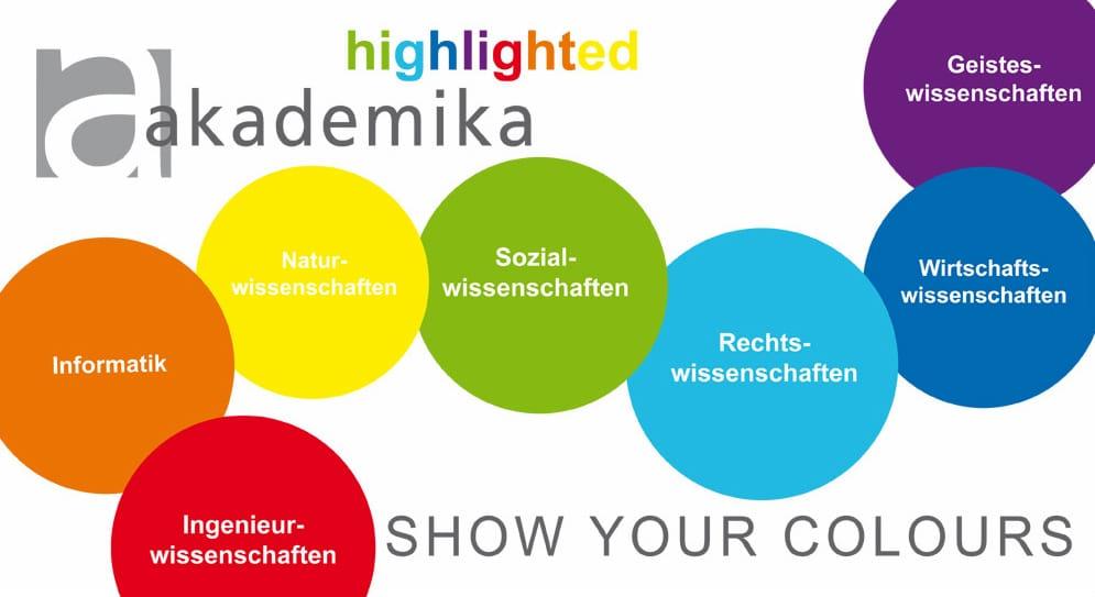 Akademika highlighted - der farbliche Wegweiser