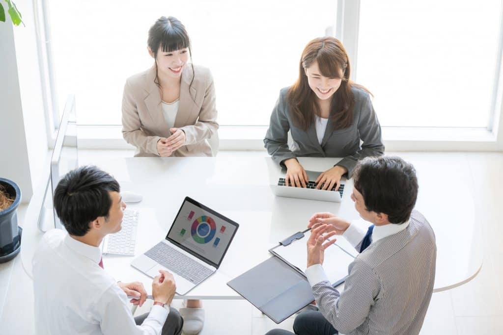 Meeting - jeder Teilnehmer trägt etwas dazu bei