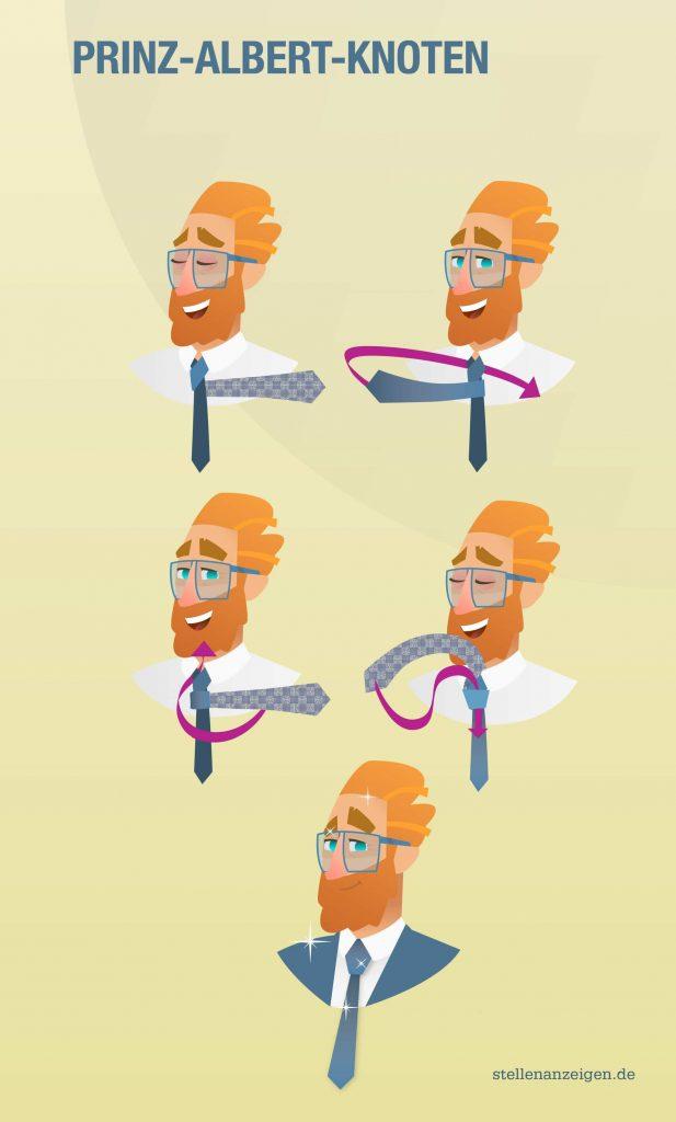 So bindest du den Prinz-Albert-Knoten