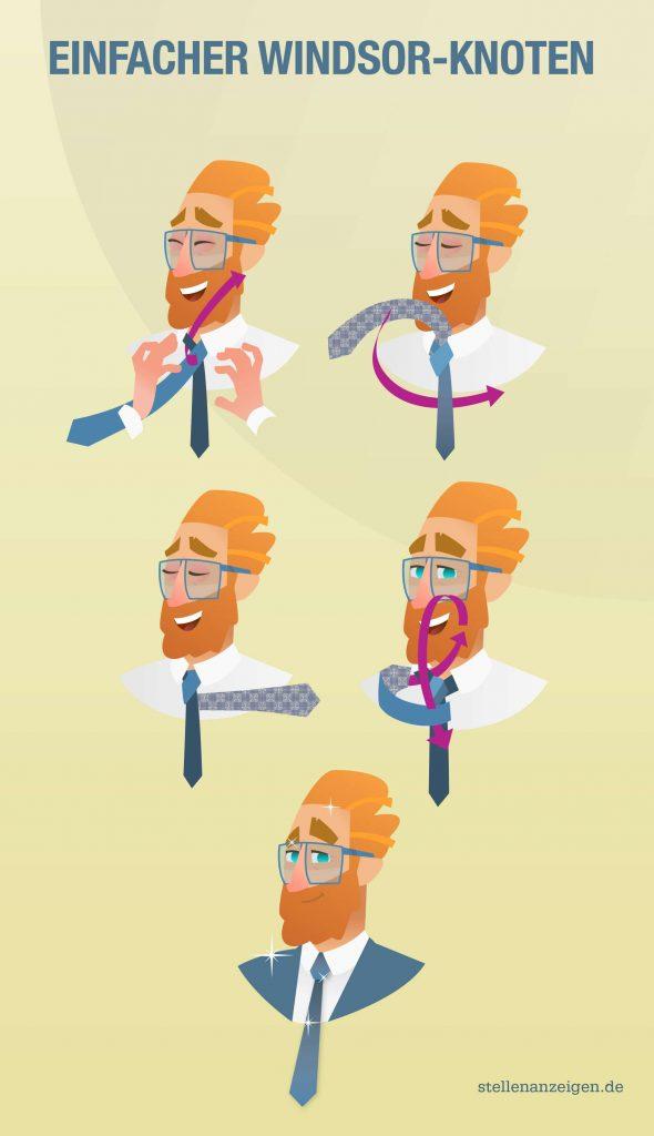So bindest du einen einfachen Windsor-Krawattenknoten