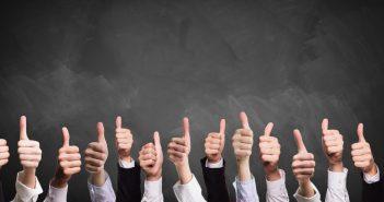 Arbeitgeber-Bewertung; Arbeitszufriedenheit: Welcher Arbeitnehmertyp bist du? Viele Daumen nach oben