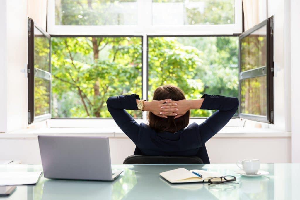 Gesund im Büro - lasse frische Luft rein!