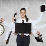 Sekretärin - manchmal ist es stressig