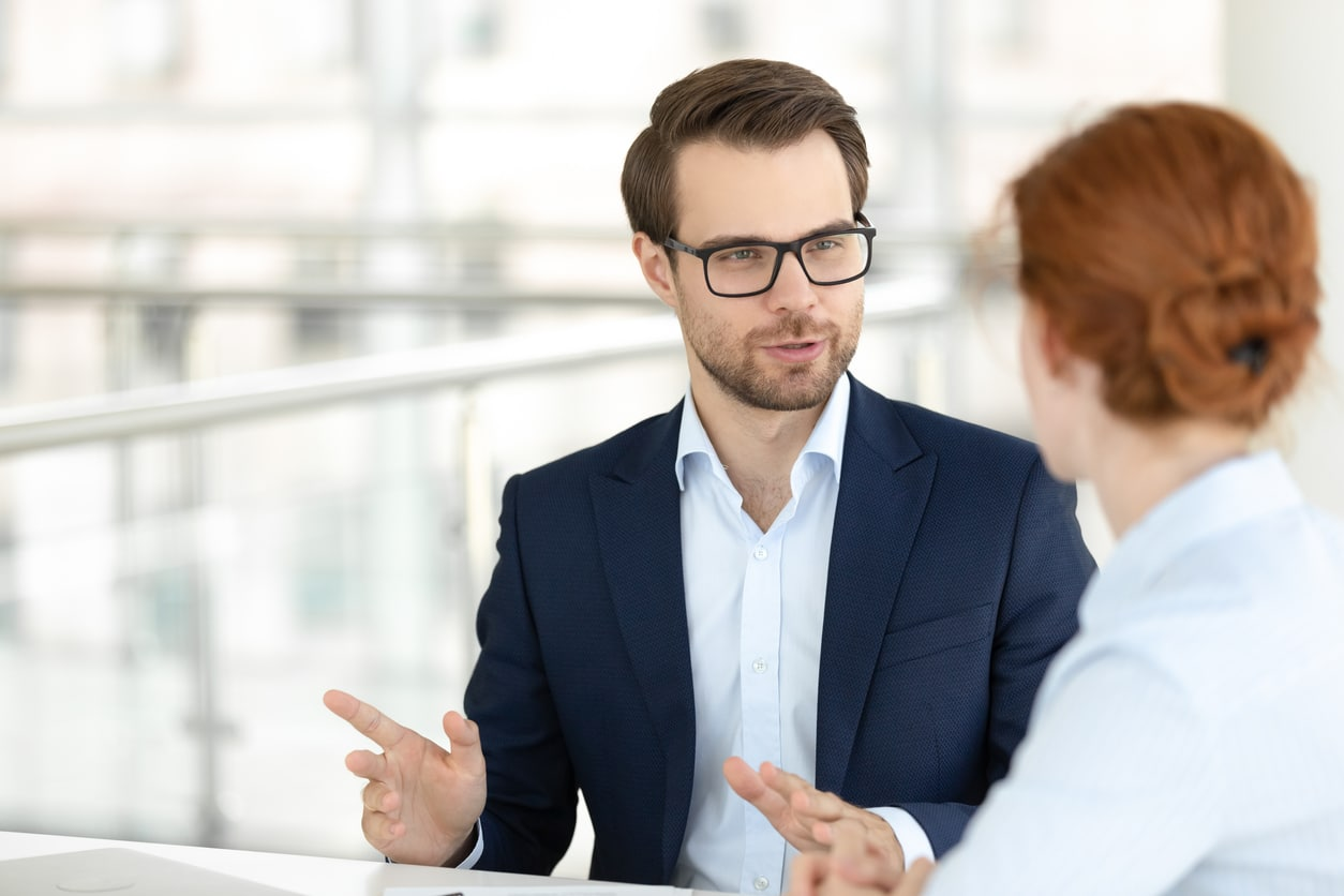 Bewerbungsgespräch Jobmesse