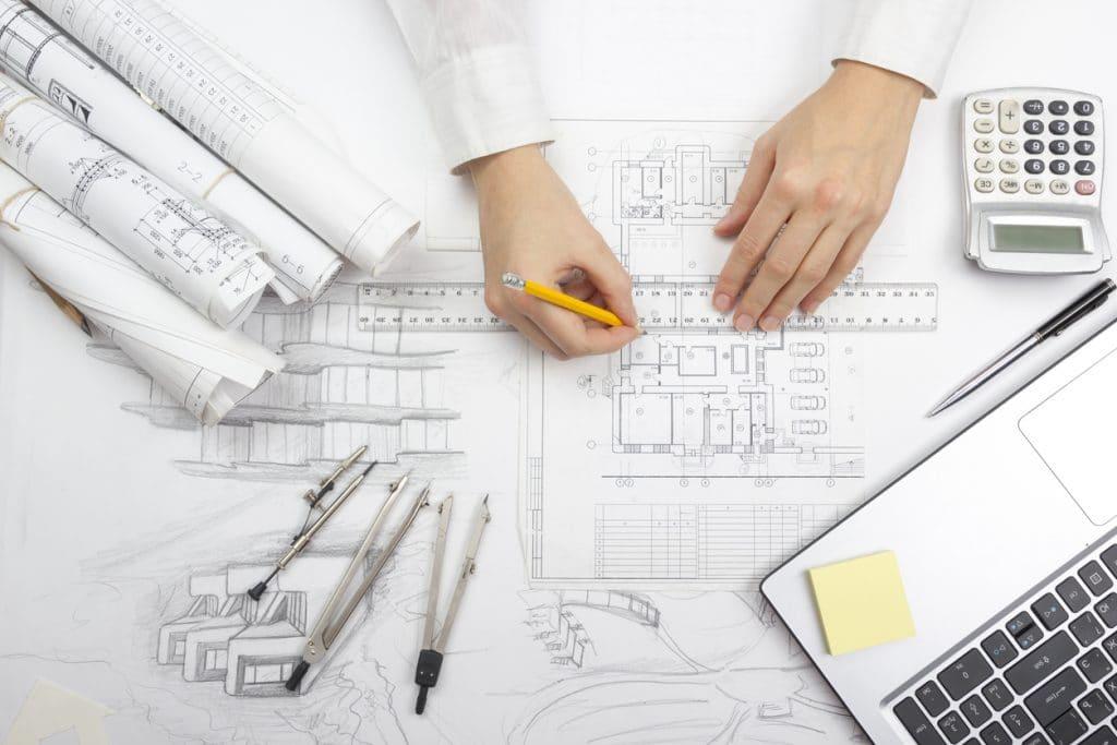 Architekt; Grundriss zeichnen