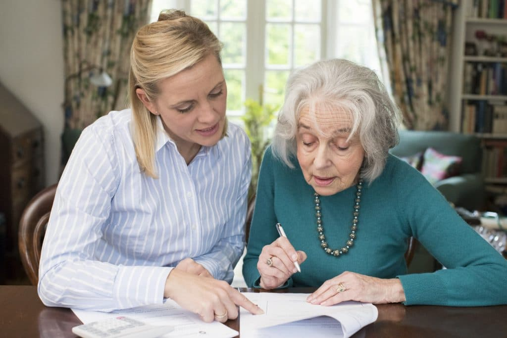 Pflege; Berufsbild; Beratung Seniorin