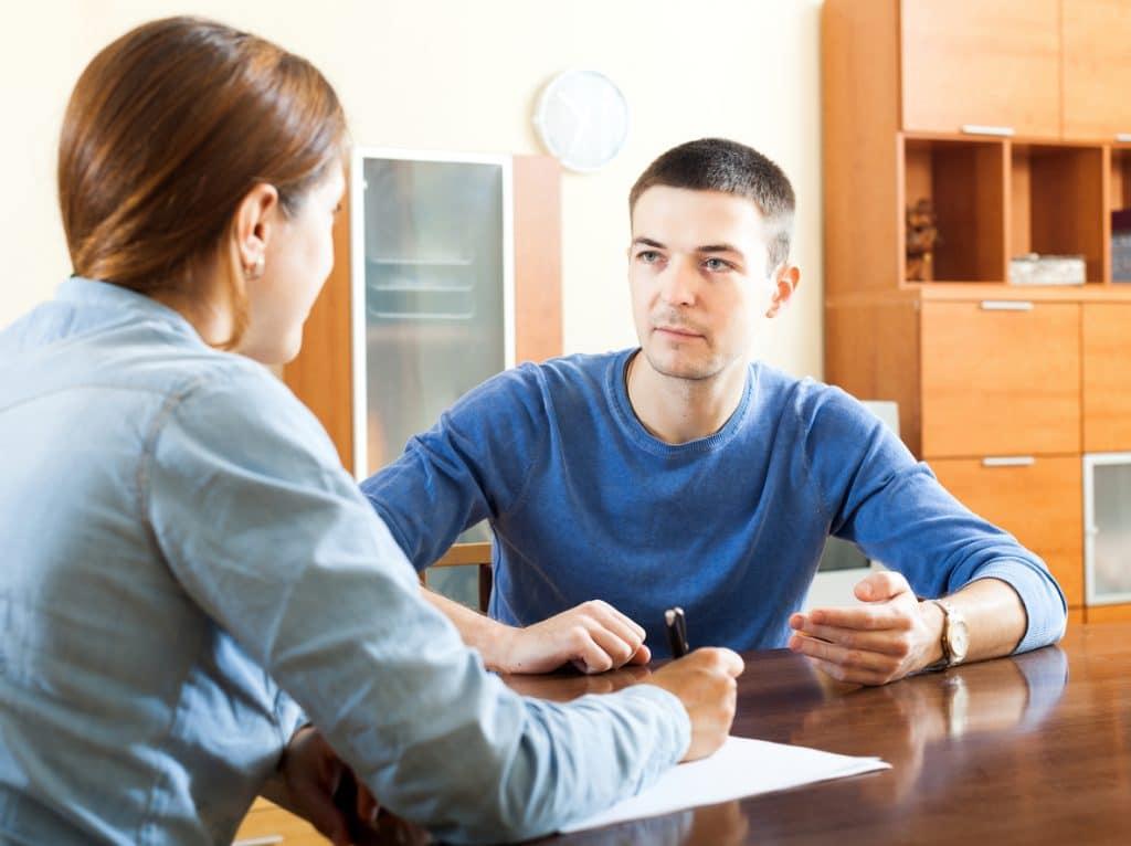 Sozialpädagoge im Gespräch