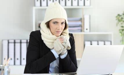 Kälte im Büro