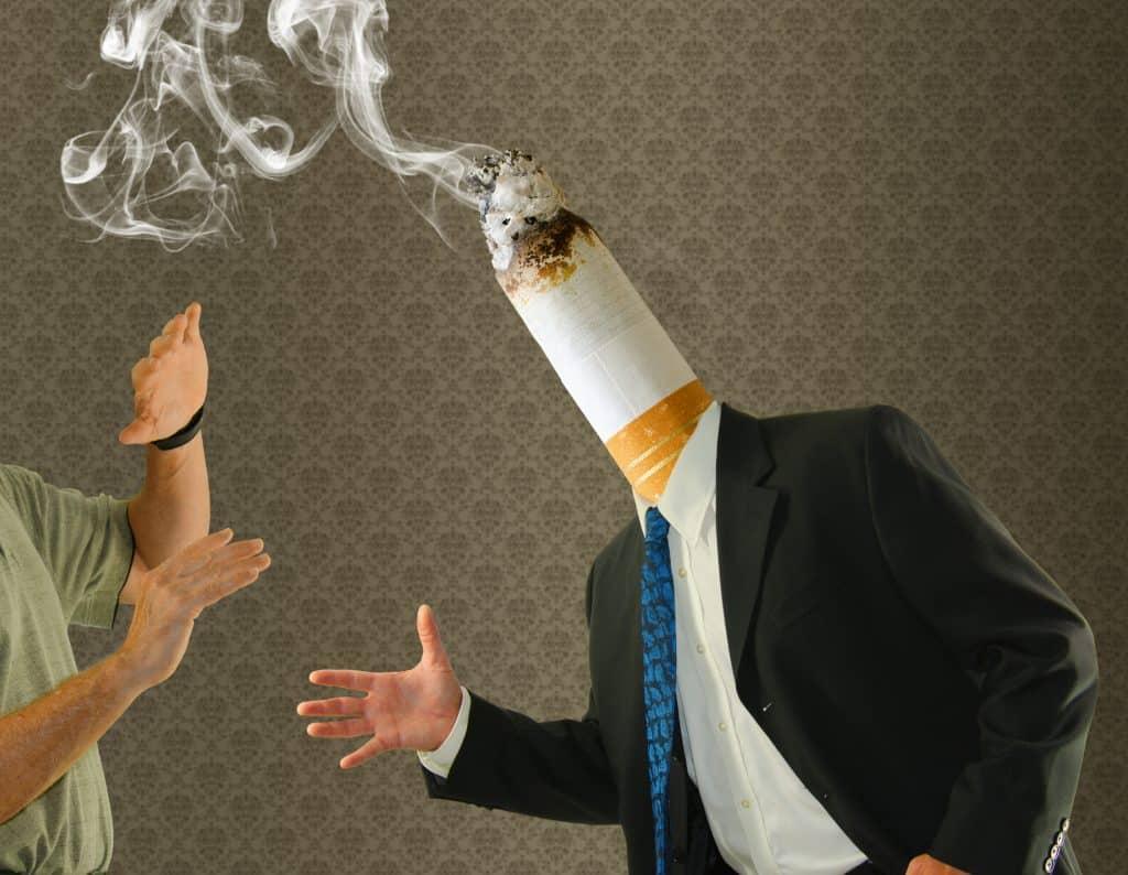 Wenn der Kollege nach Rauch stinkt