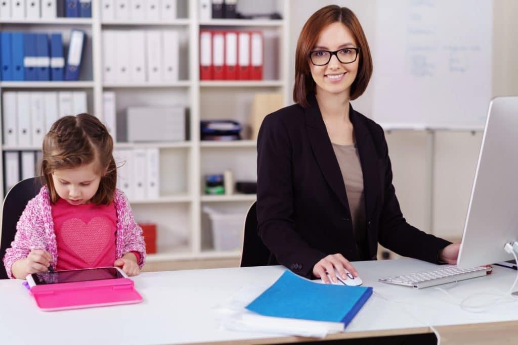 Bürojob und Kind