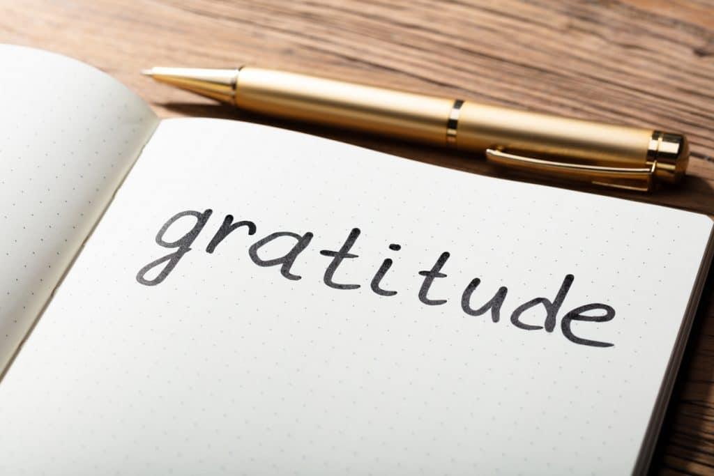 Dankbarkeitstagebuch