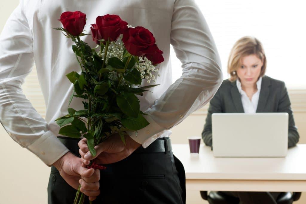 Kleine Aufmerksamkeit am Arbeitsplatz