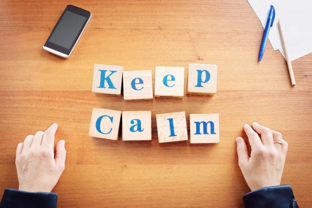 Motto Ruhig bleiben