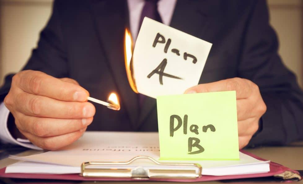 Plan B vs plan A bei der Jobsuche nach Corona