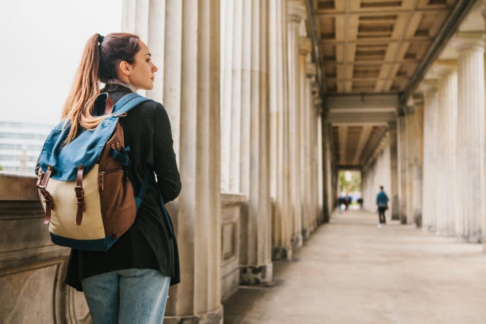 Studentin an der Universität