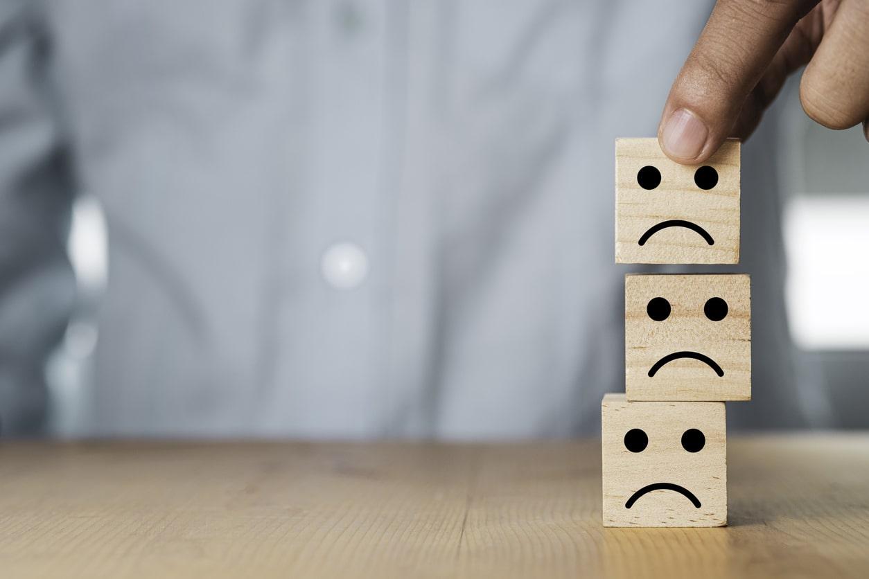 Negative Bewertung